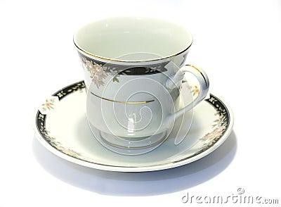 Porcelain tea cup and saucer 1