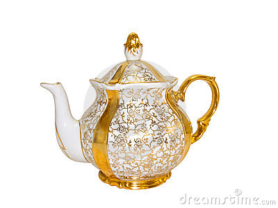 Porcelain teapot from an old antique service