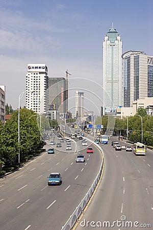Porcelanowy uliczny Wuhan Zdjęcie Editorial