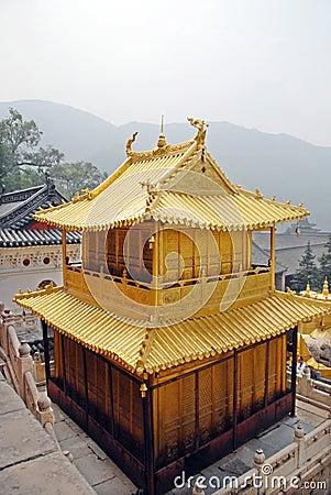 Porcelanowy złoto dom