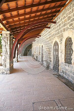 Porch along the ancient walls