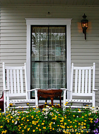 Free Porch And Chairs Royalty Free Stock Photo - 1599295
