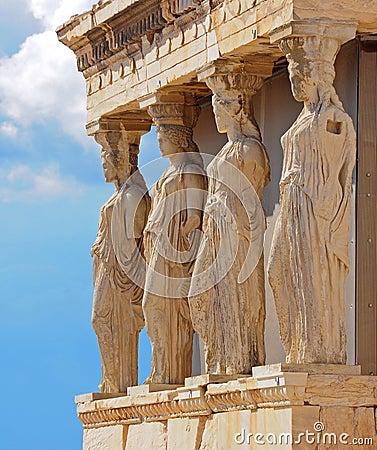 Free Porch Of Caryatides In Acropolis, Athens, Greece Royalty Free Stock Image - 35984026