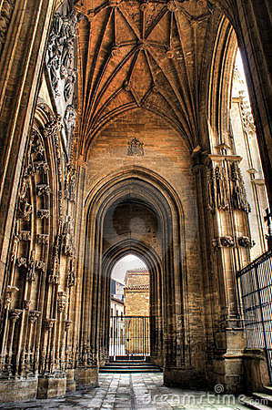 Porch of the Oviedo cathedral