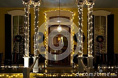 Porche de Victorian de Noël