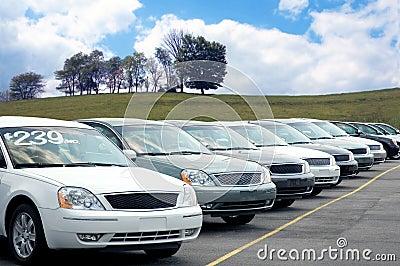 Porción del distribuidor autorizado de coche