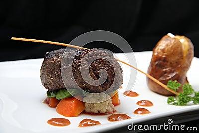 Porción del filete del filete