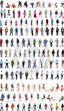 Porciones de ilustraciones de la gente