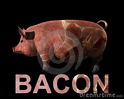 Porco e bacon