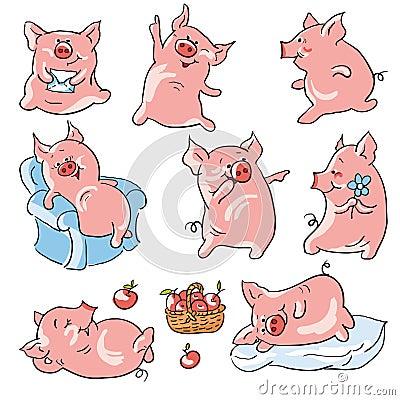 Porcos dos desenhos animados