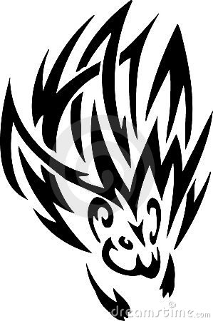 Porcupine in tribal style - vector illustration