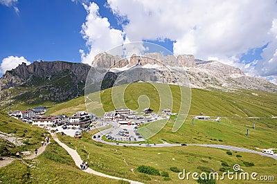 Pordoi pass - Dolomites, Italy