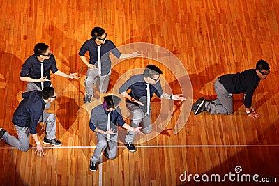 Poreotix team dance at Hip Hop International cup Editorial Stock Image