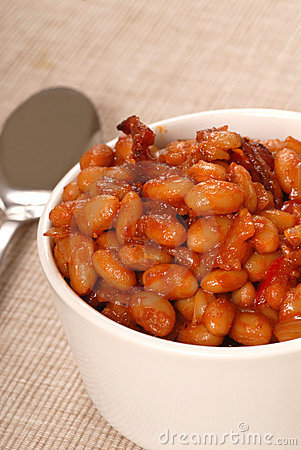 Pork and beans with bacon