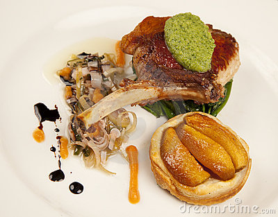Pork Chop with Peach