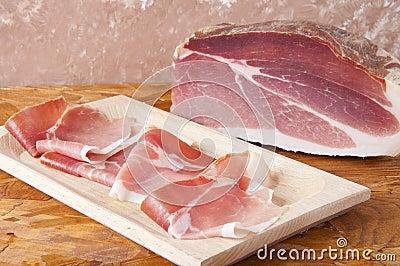 Pork cured ham