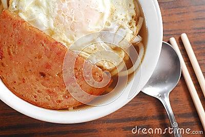 Pork and egg noodle