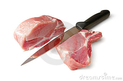 Pork and knife