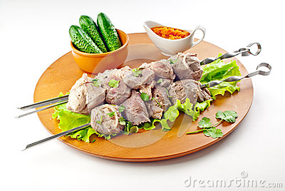 Pork neck shish kebab