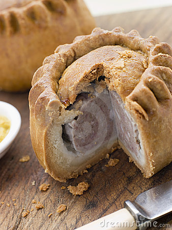 Free Pork Pie With English Mustard Royalty Free Stock Image - 5626106