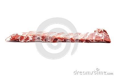 Pork rib closeup