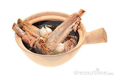 Pork Rib Soup Cooked In A Claypot