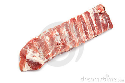 Pork rib on white background