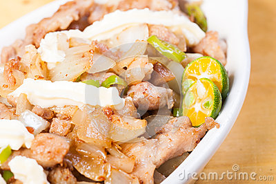 Pork sisig a popular delicacy in the philippines