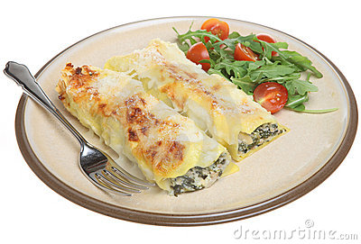 Pork & Spinach Cannelloni