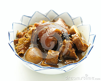 Pork stew with egg