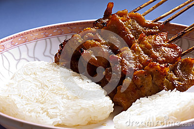 Pork with sticky rice