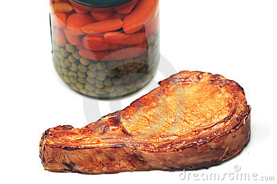 Porkchop and vegetables
