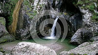 Porlezza Cascata di Begna near Lake Lugano stock video