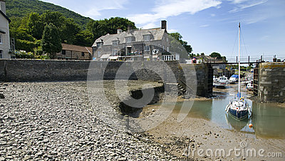 Porlock Weir, England Editorial Stock Image