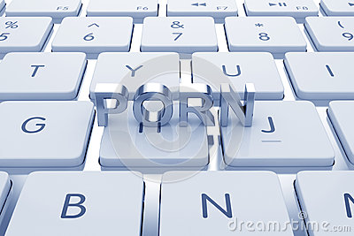 Porn text on computed keyboard