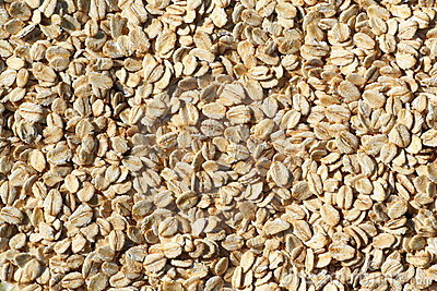 Porridge oats texture background.
