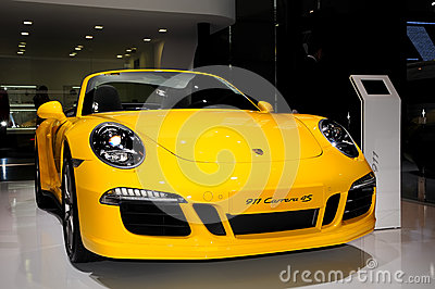 Porsche 911 Carrera 4S convertible sports car Editorial Stock Image