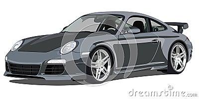 Porsche 911 carrera, front view Editorial Photo