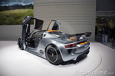 Porsche 918 RSR Racing Lab Hybrid Editorial Stock Image