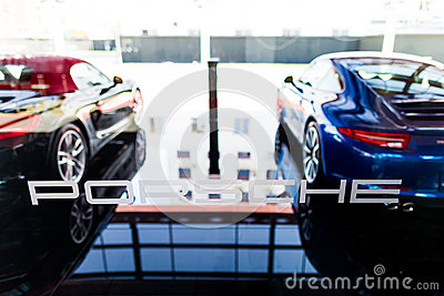 Porsche cars for sale Editorial Stock Image