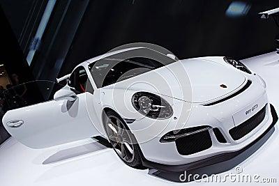 Porsche 911 991 GT3 - Geneva Motor Show 2013 Editorial Image