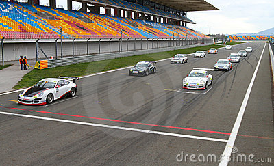 Porsche GT3 Cup Challenge Eastern Europe Editorial Photography