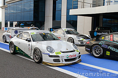 Porsche GT3 Cup Challenge Eastern Europe Editorial Stock Image