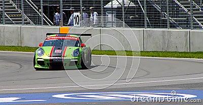Porsche GT3 cup challenge Montreal Editorial Stock Image