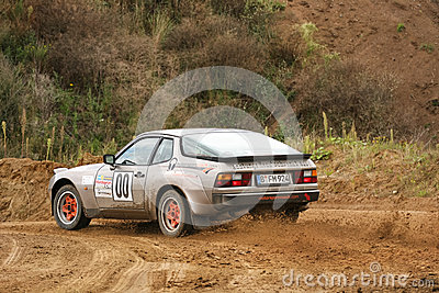 Porsche Rallye Car Editorial Photo