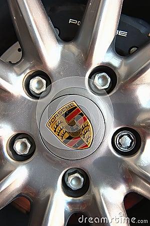 Porsche Rim Wheel Editorial Photography