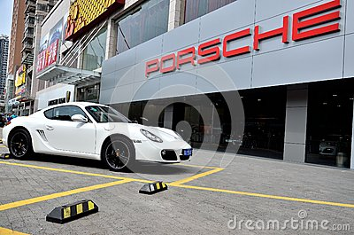Porsche shop Editorial Stock Photo