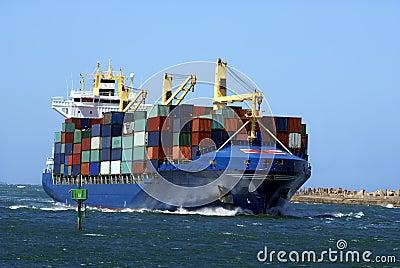 Into port