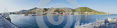 Port of Acciaroli panoramic view Editorial Stock Image