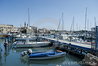 Port in Akko (Acre), Israel Editorial Photography